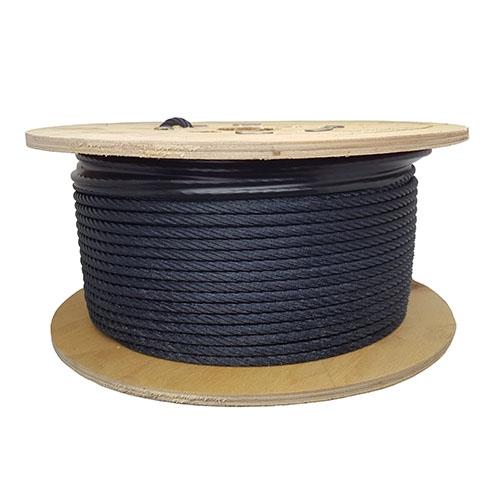 Blackened Steel Wire Rope & Fittings